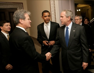 President Bush, Senator Coburn, and Senator Obama