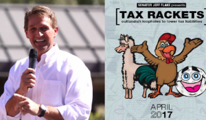 "Senator Flake Releases ""Tax Rackets"" Oversight Report"